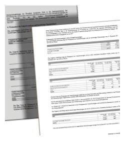 Geschäftsbericht - Vorlage und Ergebnis